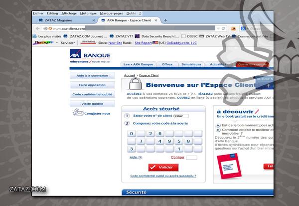 ZATAZ Faux Site Axa Banque
