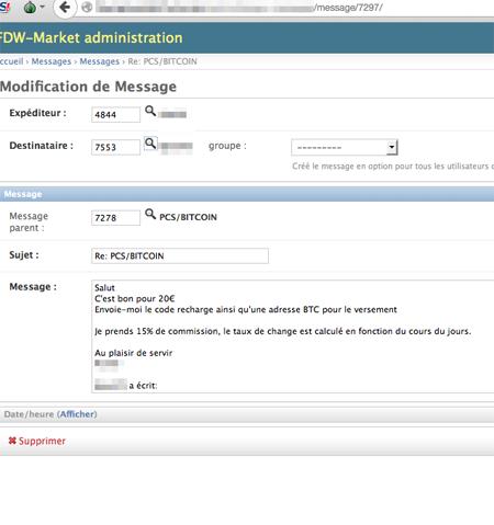 """L'accès aux espaces des administrateurs, et les messages privés des """"commerçants""""."""