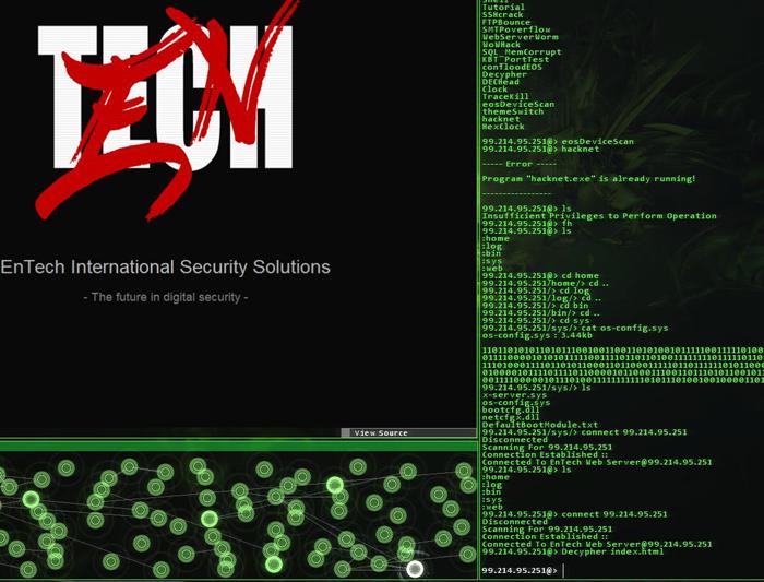 L'ambiance de Hacknet offre une belle immersion.