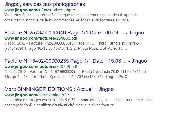 Google gardait encore en mémoire des factures datant de 2012.