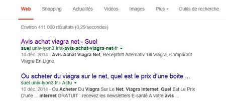 Google garde des traces de la vente de Viagra par des pirates.