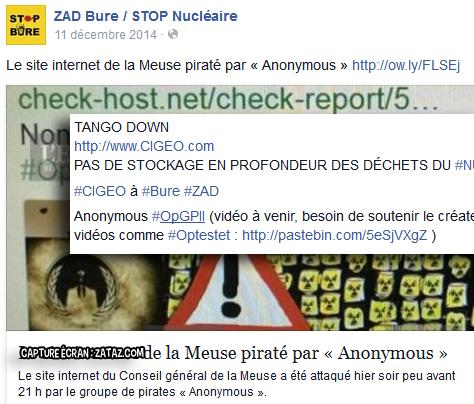 Les Anonymous communiquaient sur les réseaux sociaux à chaque opération.
