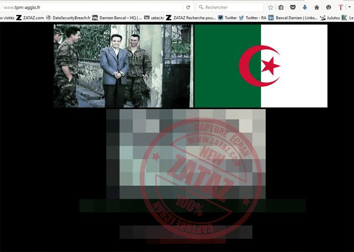 Le site de la commune de Toulon et son voisin dédié à l'Agglomération. Image flootée par mes soins : diffusion de cadavres.