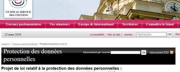 projet de loi relatif à la protection des données personnelles