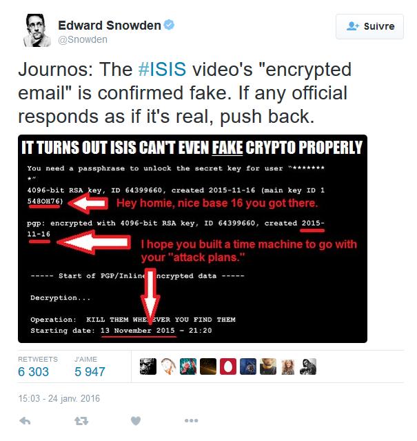 Snowden isis