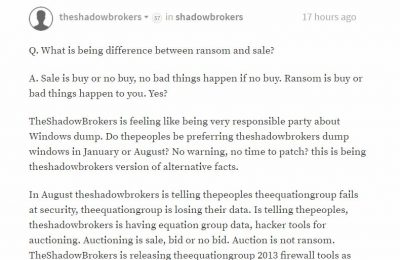 TheShadowBrokers Data Dump of the Month