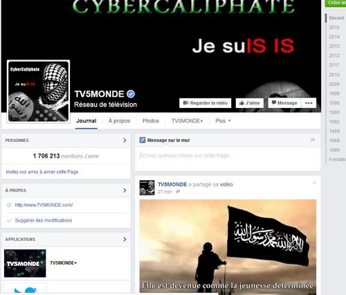 Le Facebook de la chaîne d'information a été modifié et des documents sensibles diffusés.