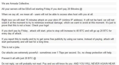 DDoS for Ransom