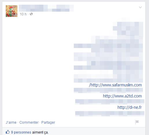Les pirates diffusent leur tableau de chasse sur plusieurs comptes Facebook et Twitter.