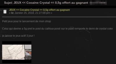 Gagner 5 grammes de cocaïne