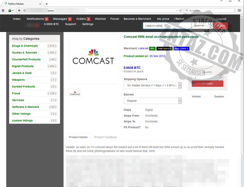 comcast darknet