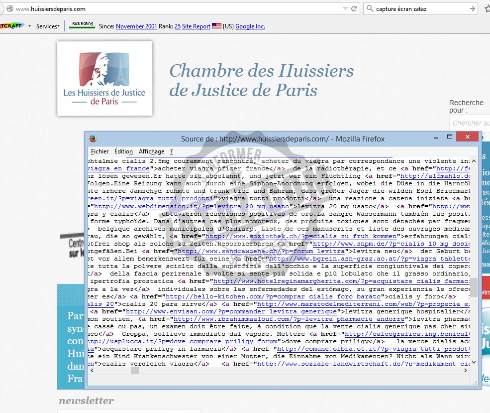 Zataz le site de la chambre des huissiers de justice de - Chambre regionale des huissiers de justice ...