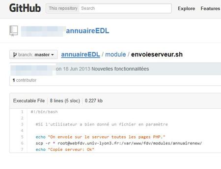 Des bouts de code, et des identifiants de connexion de Lyon 3 se sont retrouvés sur GitHub.
