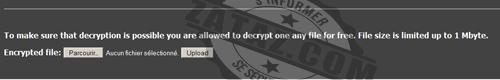 """Le pirate propose de déchiffrer 5 fichiers """"gratuitement"""" pour prouver son savoir faire !"""