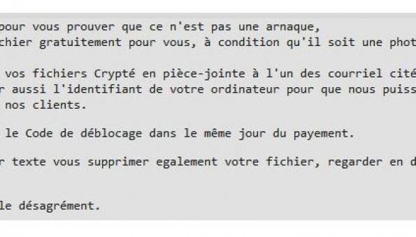 Le code malveillant JobCrypter, un ransomware qui parle Français comme une vache espagnole !