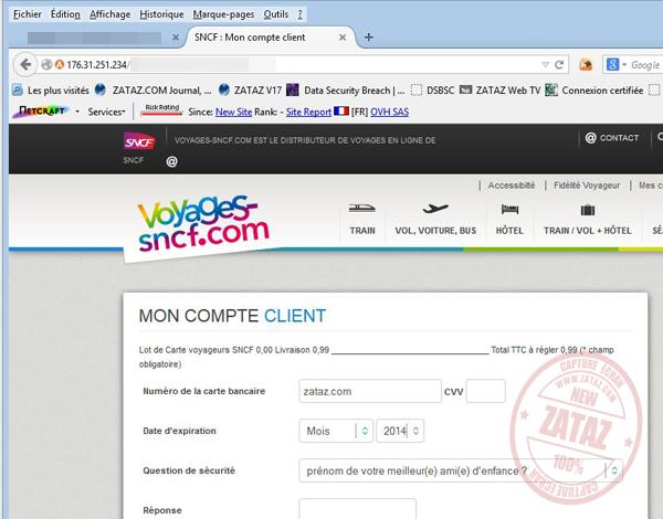 Zataz Tentative De Piratage Des Clients Sncf