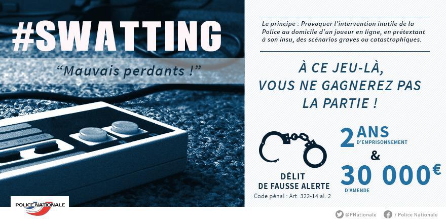 swatting peine prison